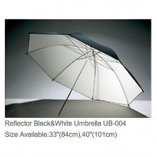 "Godox UB-004 33"" Umbrella Reflector Black White Reflective Umbrella Photography Studio Accessories"