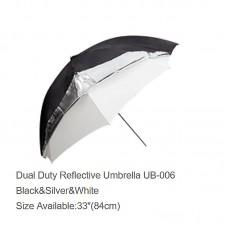 """Godox UB-006 33"""" Reflective Umbrella Black Silver White Umbrella Photography Studio Accessories"""