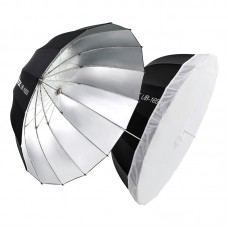 "Godox UB-105S Parabolic Umbrella Reflective Umbrella 105CM/41.3"" Black Silver Umbrella Reflector"