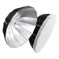 """Godox UB-130S Parabolic Umbrella Reflective Umbrella 130M/51.2"""" Black Silver Umbrella Reflector"""