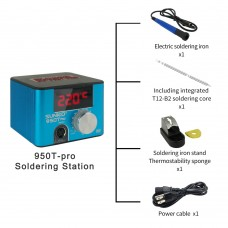 SUNKKO 950TPRO Blue Soldering Station Constant Temperature w/ Soldering Iron Type A Soldering Stand