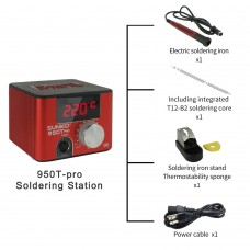 SUNKKO 950TPRO Red Soldering Station Constant Temperature w/ Soldering Iron Type A Soldering Stand