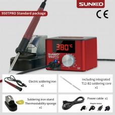 SUNKKO 950TPRO Red Soldering Station Constant Temperature w/ Type B Soldering Stand Soldering Iron
