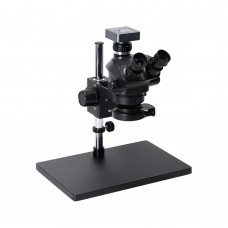 3.5X-100X Simul-Focal Trinocular Microscope Kit 48MP FHD Camera V8 For Soldering PCB Jewelry Repair