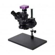 3.5X-100X Simul-Focal Trinocular Microscope w/ 51MP Microscope Camera For Soldering PCB Jewelry Repair
