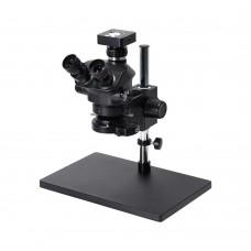 3.5X-100X Simul-Focal Trinocular Microscope w/ 41MP Microscope Camera For Soldering PCB Jewelry Repair