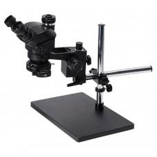 3.5X-100X Trinocular Microscope w/ Universal Bracket 144-LED Light For Soldering PCB Jewelry Repair