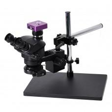 3.5X-100X Trinocular Microscope w/ Universal Bracket 51MP Microscope Camera For PCB Jewelry Repair