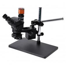 3.5X-100X Trinocular Microscope Universal Bracket 24MP USB Microscope Camera For PCB Jewelry Repair
