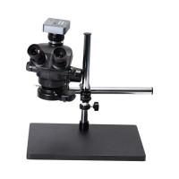 3.5X-100X Trinocular Microscope w/ Universal Bracket 48MP FHD Camera V8 For PCB Jewelry Repair