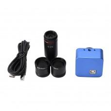 5MP USB Microscope Camera Microscope Eyepiece Camera Industrial Camera Kit With 0.5X Zoom Lens