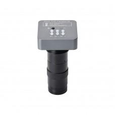 48MP FHD Camera V8 Video Microscope Camera w/ 130X C Mount Lens For PCB Soldering Phone Repair