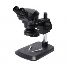 3.5X-100X Industrial Microscope Binocular Microscope Kit With 144-LED Dimmable Ring Light 0.5X Lens