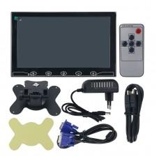 "CAR1010AHVB 10.1"" Desktop Monitor Slim HDMI Monitor w/ USB/HDMI/VGA/AV Functions Resolution 1024*600"