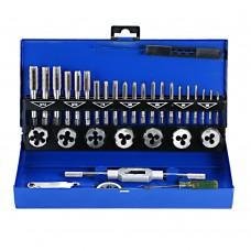 32PCS HSS Tap Metal Die Set thread Metric Wrench Cut M 3-M12 Hand Threading Tool Tungsten Carbide Tap Screw Thread Making Tool