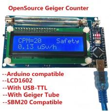 DIY Open Source Geiger Counter Meter Kit Module Miller GM Tube Detector Radiation LCD Display
