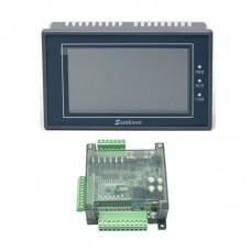 "Samkoon EA-043A 4.3"" HMI Touch Screen + FX3U-14MT PLC Control Board Programmable PLC Controller"