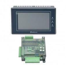"Samkoon EA-043A 4.3"" HMI Touch Screen + FX3U-14MR Programmable PLC Controller PLC Control Board"