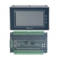 "Samkoon EA-043A 4.3"" HMI Touch Screen + FX3U-48MR PLC Controller PLC Control Board 6AD 2DA"