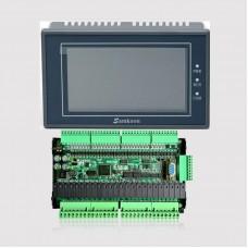 "Samkoon EA-043A 4.3"" HMI Touch Screen w/ FX3U-56MR PLC Control Board High-Speed PLC Controller"