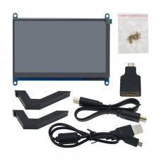 7 Inch HDMI Display USB Capacitive Touch Screen IPS Full Viewing Angle 1024x600 For PC Raspberry Pi