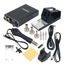 WY815P Electric Soldering iron Hot Air Gun Solder Station Kit LED Display DIY Rework Desoldering Station Soldering Tools