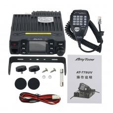 AnyTone AT-778UV Dual Band Transceiver Mini Mobile Radio 25W Amateur Radio Walkie Talkie 10KM