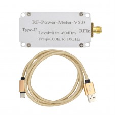 RF-Power-Meter-V5.0 100K To 10GHz RF Power Meter High-Speed Acquisition Type With Type-C Data Port