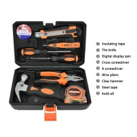 Solude STT-008P Home Tool Kit Hand Tool Set Electrician Tools Set With Tool Box Easy Storage