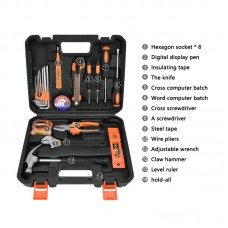 Solude STT-020P Home Tool Kit Hand Tool Set Electrician Tools Set With Tool Box Easy Storage