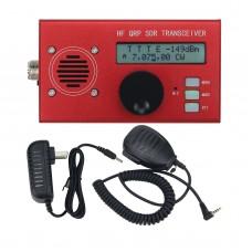 USDX USDR HF QRP SDR Transceiver SSB/CW Transceiver 8-Band 5W DSP SDR w/ Red Shell Mic For Ham Radio