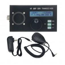 USDX USDR HF QRP SDR Transceiver SSB/CW Transceiver 8-Band 5W DSP SDR Black Shell With Mic