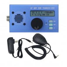 USDX USDR HF QRP SDR Transceiver SSB/CW Transceiver 8-Band 5W DSP SDR Ham Radio Blue Shell w/ Mic