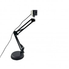 Hsk-800w 2K 8MP HD Digital Camera Built-In Mic Round Base For Online Remote Education Livestreaming