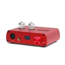 LOXJIE P20 Fully Balanced Headphone Amplifier Hifi Tube Amplifier 6N3 Desktop Headphone Amp Red
