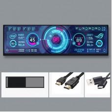 "DAQ-01 12.6"" 1920x515 AIDA64 Display AIDA64 Screen Dual-Display PC Hardware Temperature Monitoring"