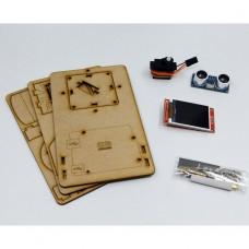 For Arduino Mini Radar Detection Robot With Ultrasonic Radar Tft Lcd Screen Maker Project Open Source DIY STEM Progarm Toy Kit