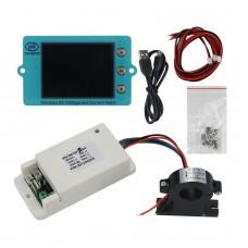 "VAC8610F 500V 300A Wireless Voltmeter Ammeter Coulometer 2.4"" Screen + Hall Sensor 485 Communication"