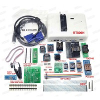 RT809H Universal Programmer Upgraded Version of 809F w/ 16 Adapters For NOR/NAND/EMMC/EC/MCU