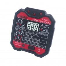 UYIGAO UA20D Socket Tester Pro Outlet Tester CAT II 300V With Backlit LCD Screen UK Standard