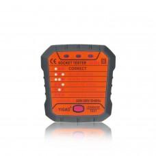 UYIGAO UA999 Socket Tester Outlet Tester Phase Detection Instrument 220V-250V 50-60Hz EU Plug