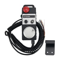 OMT004 7Axis Manual Pulse Generator CNC Handwheel 100PPR 5V with Emergency Stop Button Universal Type
