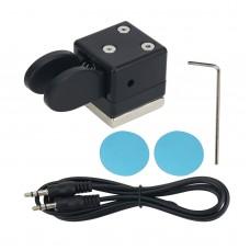 QU-21C Mini Dual Paddle Key Morse Key Telegraph Key CW Key Automatic Base Magnetic Absorption
