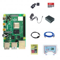 For Raspberry Pi 4 Model B 2GB RAM Raspberry Pi 4 Computer Model B Kit With Aluminum Alloy Shell