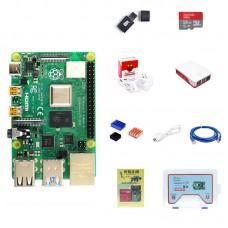 For Raspberry Pi 4 Model B 2GB RAM Raspberry Pi 4 Computer Model B w/ Official Type-C Power Adapter