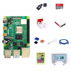 For Raspberry Pi 4 Model B 4GB RAM Raspberry Pi 4 Computer Model B w/ Official Type-C Power Adapter