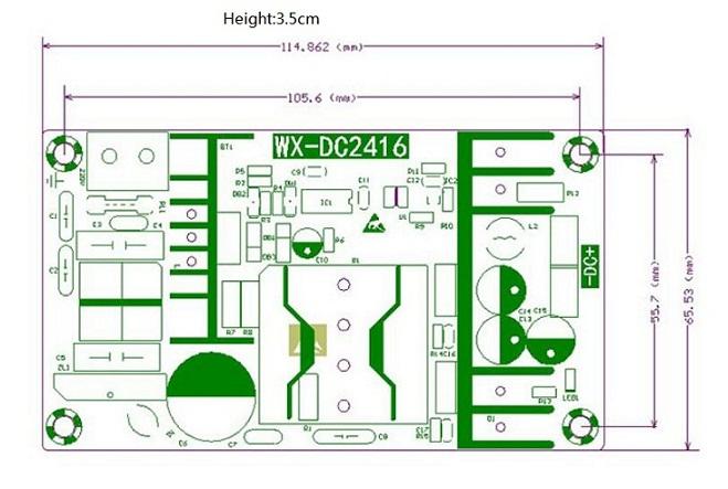 AC-DC 100-240V to 36V 5A 180W 50//60HZ Power Supply Switching Board Modul RAC