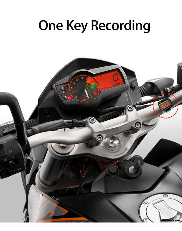 "Black Box Dash Cam >> Motorcycle Camera Motorbike Dual HD 2""LCD Dash Cam Wide ..."