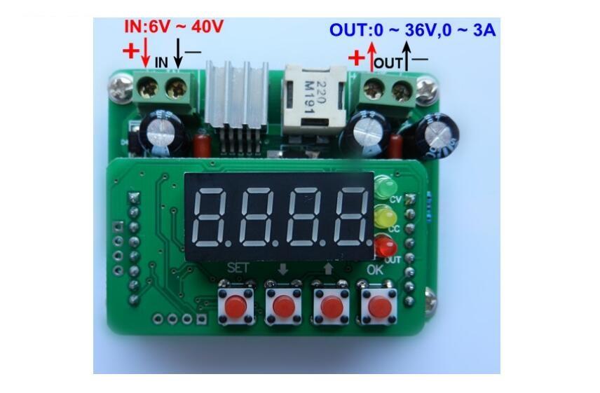 B3603 3A DC-DC LCD Digital Control Step-down Module Adjustable Buck 6-40V 150KHz