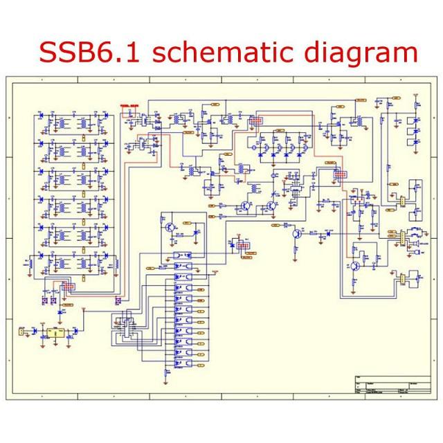 6-band HF SSB Shortwave Radio Transceiver Board DIY Kits Compatible